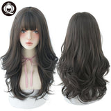 Ombre | Deep Wave Long Hair With Bangs | Heat Resistant Thick Synthetic Wigs