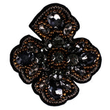 Beaded Crystal Rhinestones Cross Applique Sew on Patches