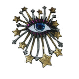 Evil Eye Iron On Sequin Patches