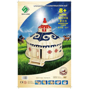 Mongolian Yurts | DIY Kit | 3D Wooden Puzzle For Children And Adults | Montessori