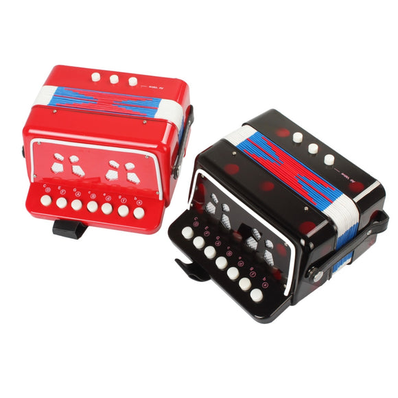 Mini Toy Accordion 7 Keys + 3 Buttons | Musical Instrument