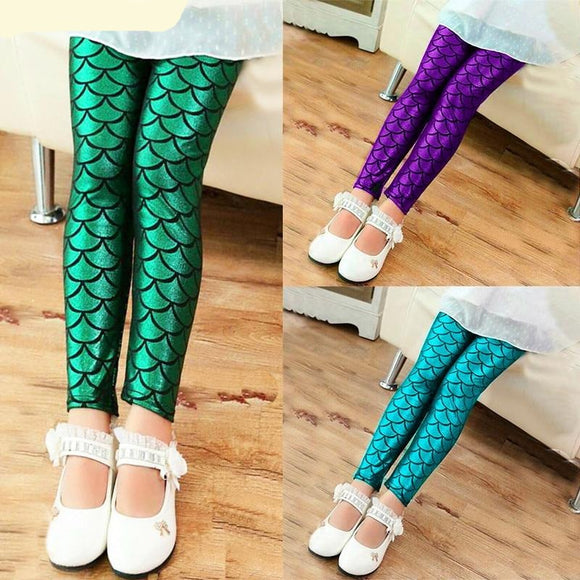 Girls Mermaid Leggings