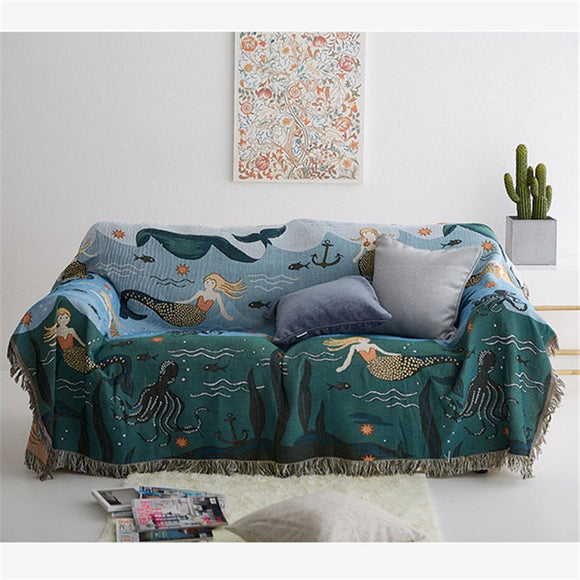 Nordic Mermaids | Throw Blanket