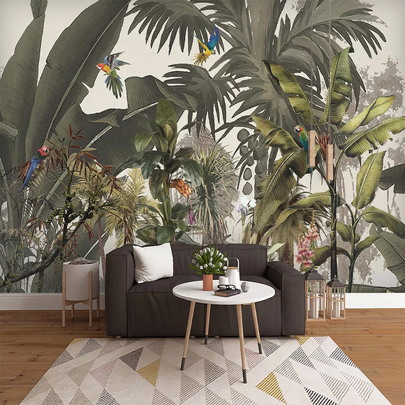 Jungle Life Wallpaper | Waterproof Self-adhesive Mural Sticker