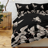Japanese Cranes Bedding | Duvet 3 Piece Set