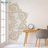 Half Mandala Vinyl Wall Stickers | Removable Wall Decal