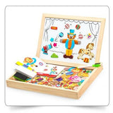 Box Theatre Puppets | Magnetic Whiteboard + Chalkboard | Wooden Montessori Educational Toy | 100pc Busy Board