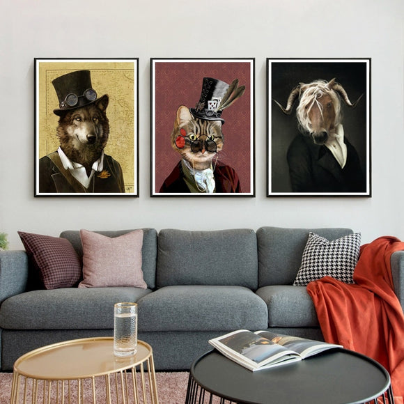 Dapper Dogs, Fancy Cats, and Gorgeous Goats | DIY Crystal Mosaic Painting
