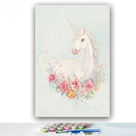Portrait of a Good Unicorn | DIY Painting By Numbers Kit