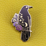 The Witch's Raven | Enamel Lapel Pin Badge