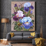 Blue Iris Bee | DIY Painting By Number Kits