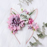 Woodland Bunny Ears Floral Headbands