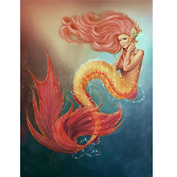 Mermaid | DIY Craft Kit | Diamond Mosaic Art Kit