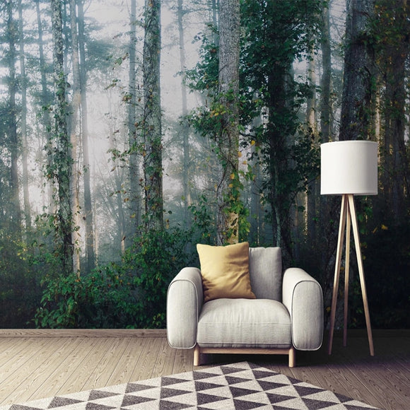 Misty Forest Mural Wallpaper