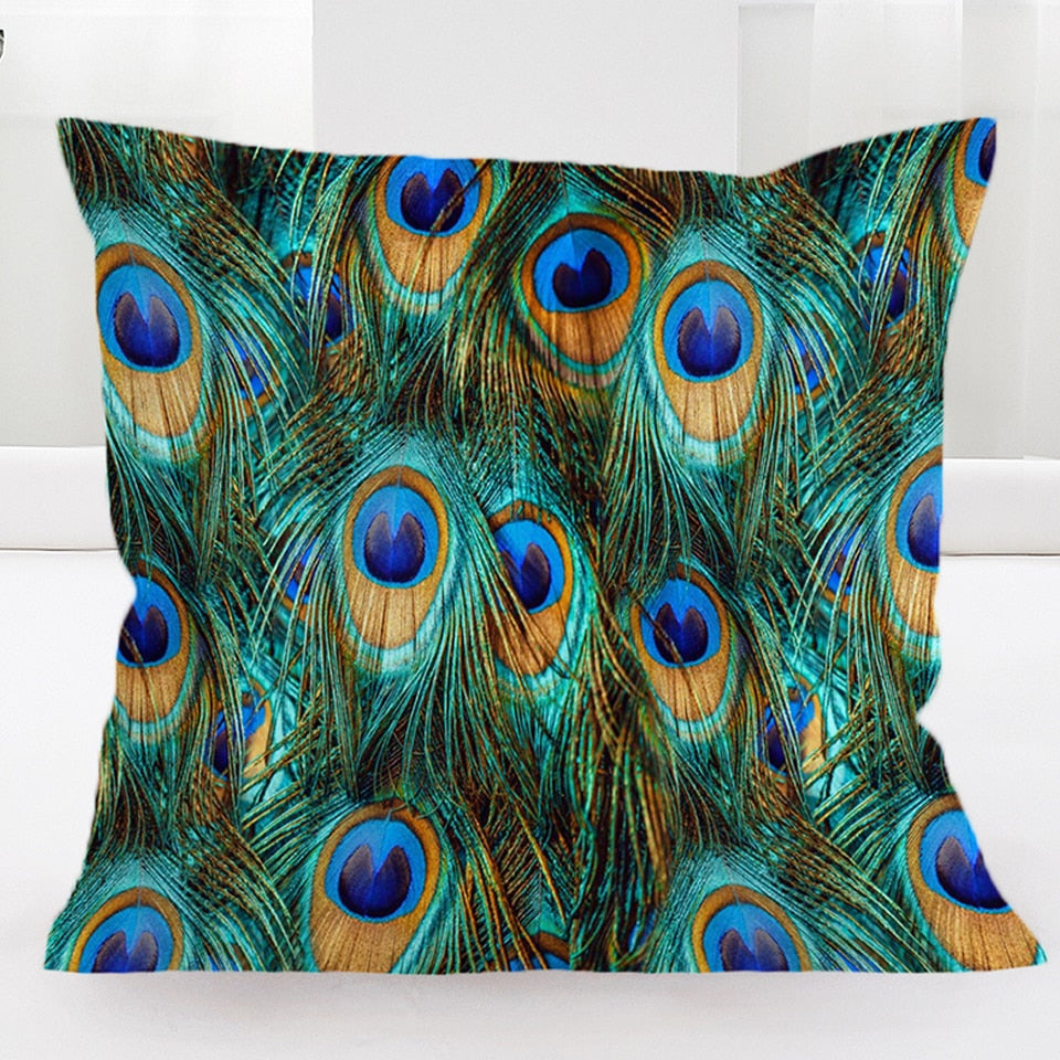 Peacock Feathers | Bohome |  Cushion Cover