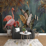 Retro Tropical Flaming Mural Wallpaper
