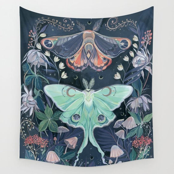 Moth Lovers Wall Hanging