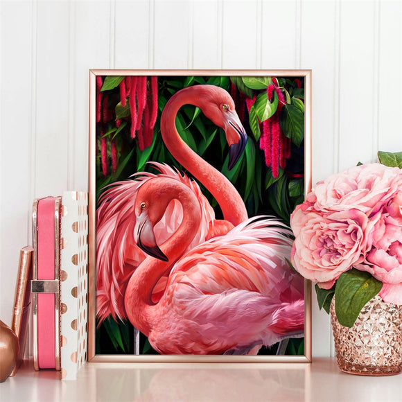 Flamingos | DIY Crystal Mosaic Painting