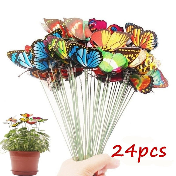 Bunch of Butterflies | Garden Planter Butterfly Stakes
