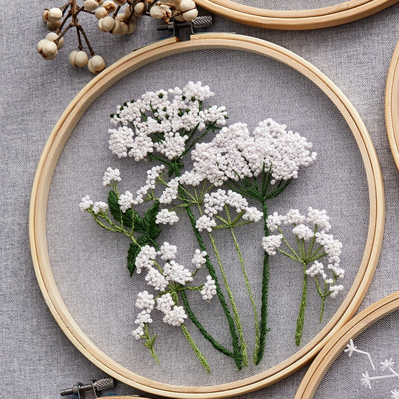 Mesh embroidery | DIY Craft Kit | Flower Needlework Paintings