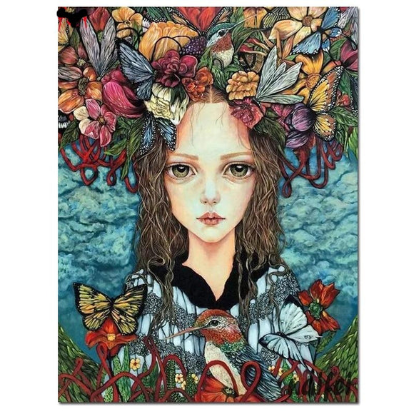 Woodland Wings Girl |  DIY Crystal Mosaic Painting Kit