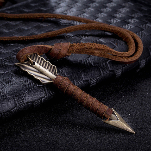 Warrior Arrow Leather Necklace