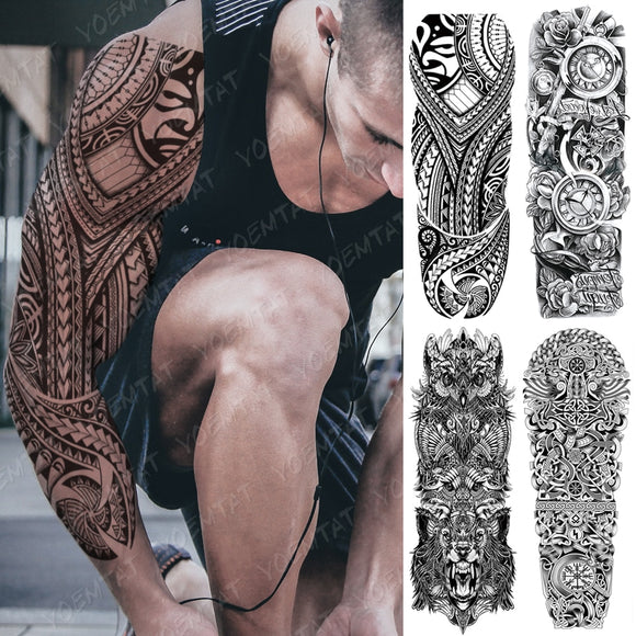 Large Full Arm Sleeve Tattoos