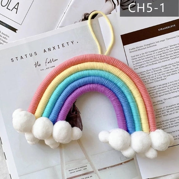 Rainbow & Clouds Wall Hanging Decor