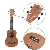 Rosewood Ukulele | 21inch 15 Fret Four Strings Guitar+Bag+String+Capo+Strap | Musical Instruments