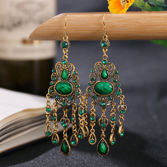 Bohemian Gypsy Beaded Dangling Earrings