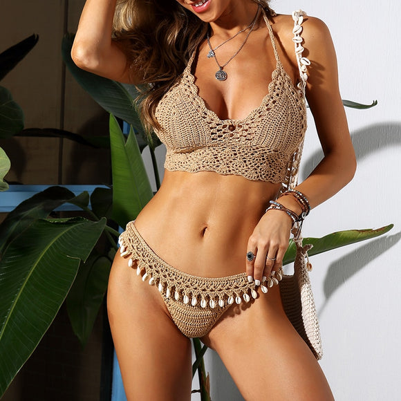 Cowrie Shells Crocheted Brazilian Bikini | Beach Bodies