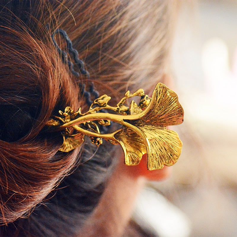 Ginkgo Leaves Hair Stick