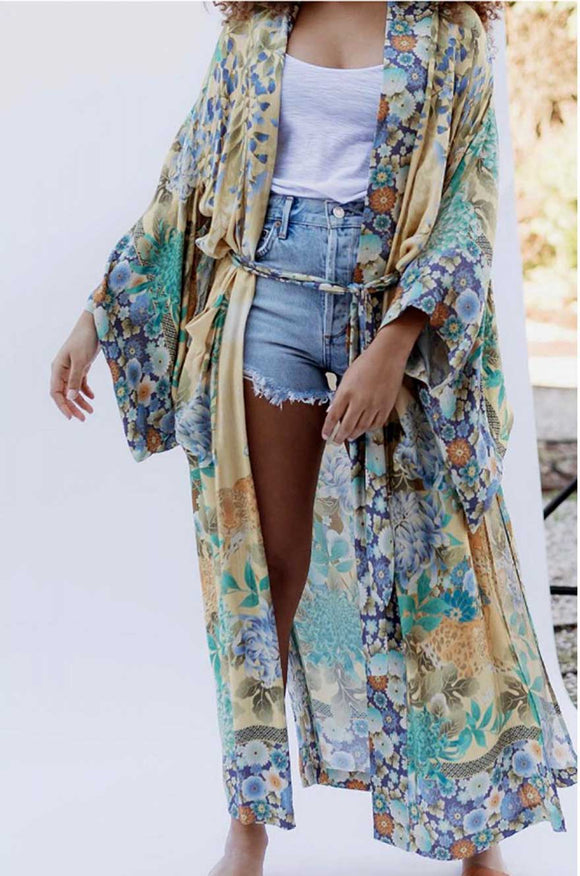 Indian Summer Long Kimono
