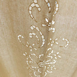 Cotton Linen Handmade Embroidered Tassel Hem Curtain