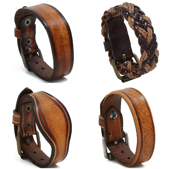 Leather Buckle Wristband