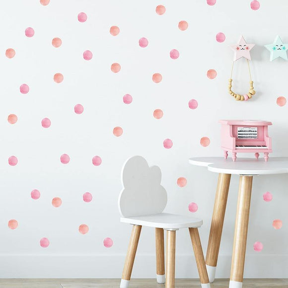 48pc Dot Wall Sticker Decals For Kids Rooms