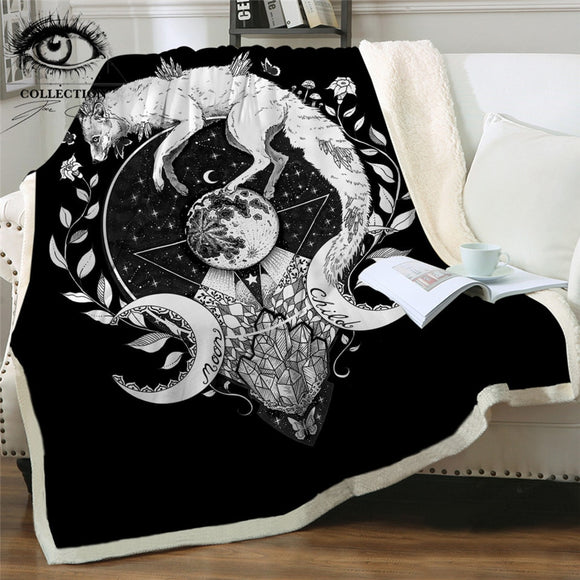 Black Moon Child | Sherpa Fleece Blanket