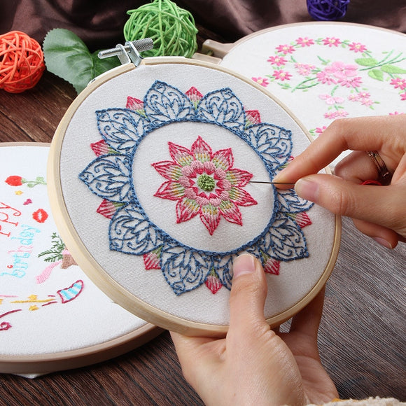 Mandala Patterns DIY Embroidery Kit For Beginner | Heirloom DIY Craft Kit