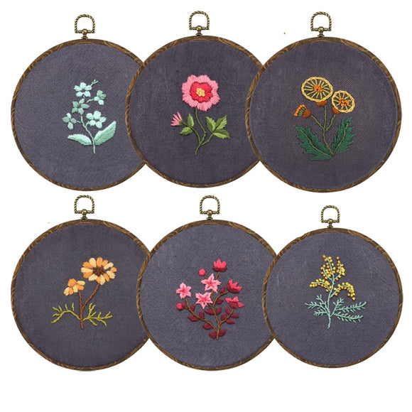 DIY Embroidery Kit with Hoop For Beginners | Heirloom DIY Craft Kits