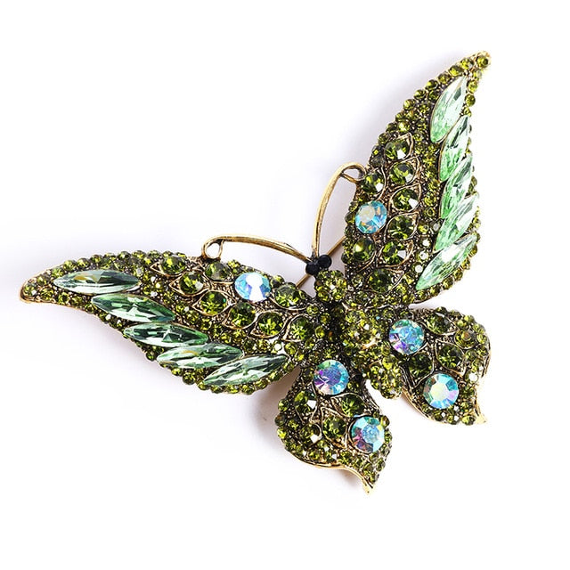 Big Sparkly Butterfly Brooches