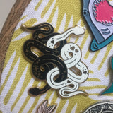 Black and White Snakes | Enamel Pin Badge