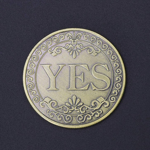 Cap ou pas cap? YES NO Decision Making Double Sided Coin