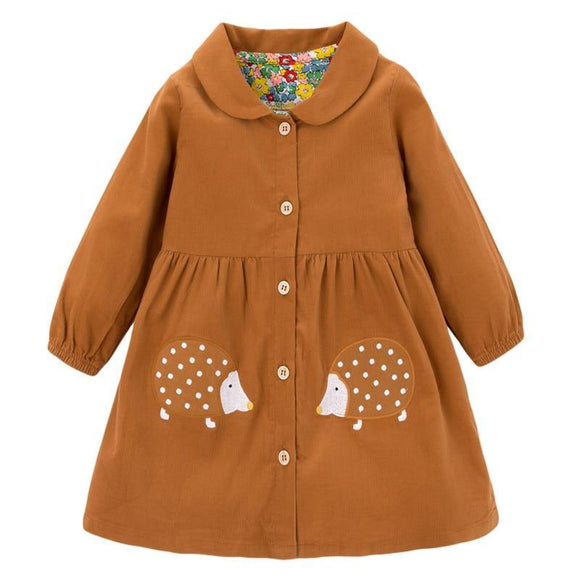 Chasing Autumn Leaves | Corduroy Girls Long-Sleeved Dress