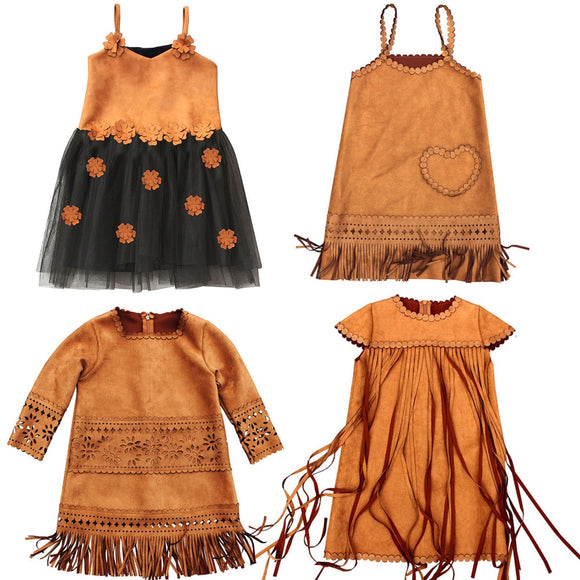 Wild West Faux Suede Girls Dresses