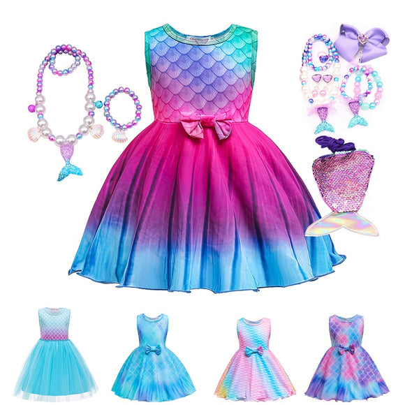 Little Mermaid Girls Dress and Accessories Sets