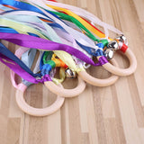 Ribbon Ring | Montessori Style Sensory Toy | BPA-free Non-toxic Teething Ring