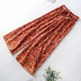 Boho Red High Waist Wide Leg Pants