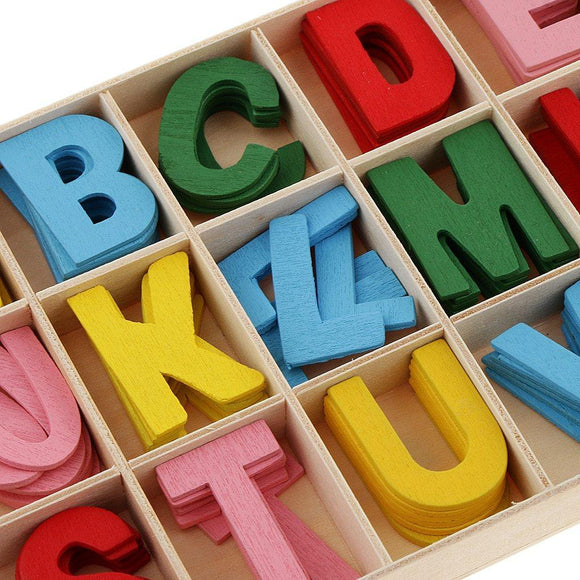 156pcs Colourful Wooden Letter Alphabet Embellishments | Kids Educational Toys