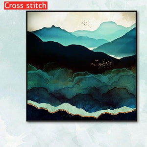 Blue Mountains Cross Stitch Kits | DIY Craft Kit
