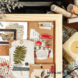 40 Vintage Plant & Mushroom Sticker Packs | Scrapbooking DIY Craft